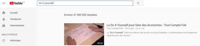 recherche diy youtube