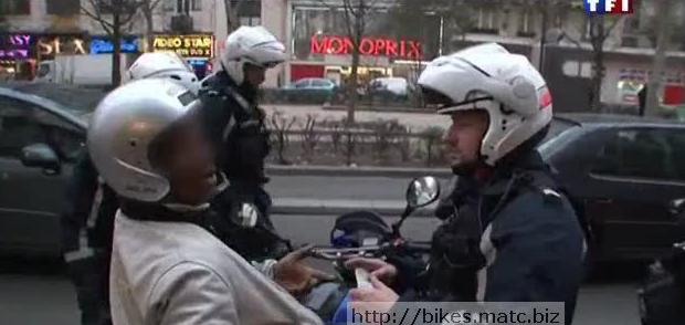 controle police moto