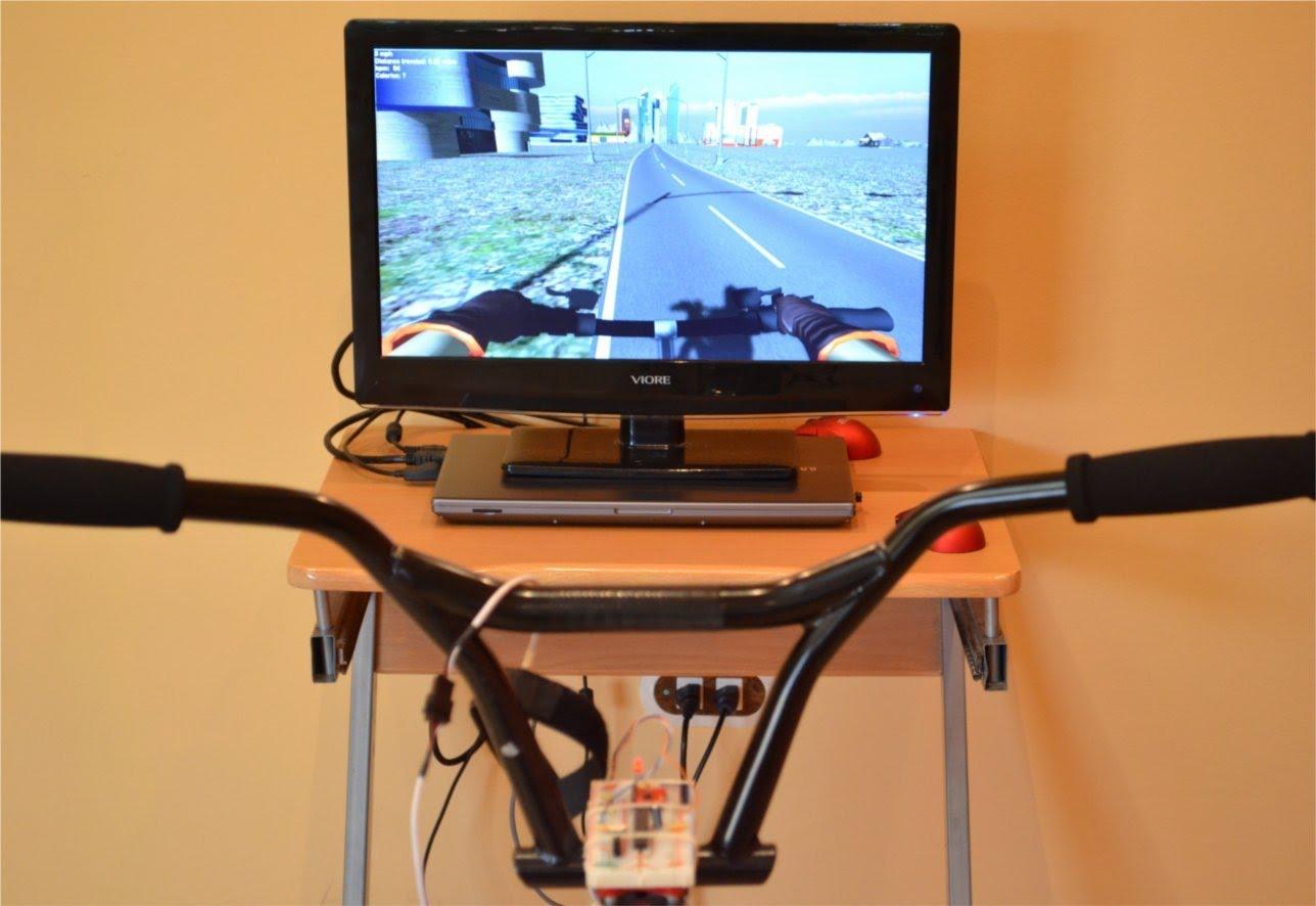 smartbike le v lo d 39 appartement avec un simulateur 3d open source motard geek. Black Bedroom Furniture Sets. Home Design Ideas